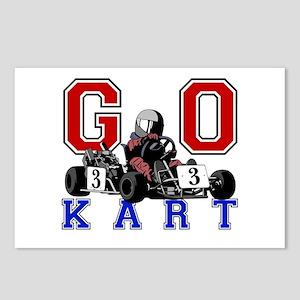 Kids Go Kart Racing Postcards (Package of 8)