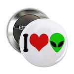 I Love Aliens Button