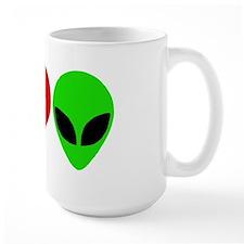 I Love Aliens Large Mug