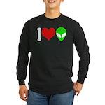 I Love Aliens Long Sleeve Dark T-Shirt