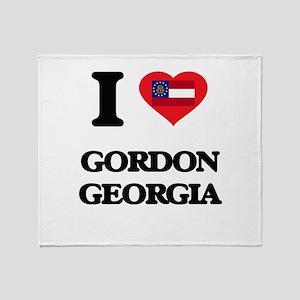 I love Gordon Georgia Throw Blanket