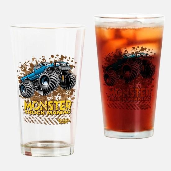 Monster Truck Maniac Drinking Glass