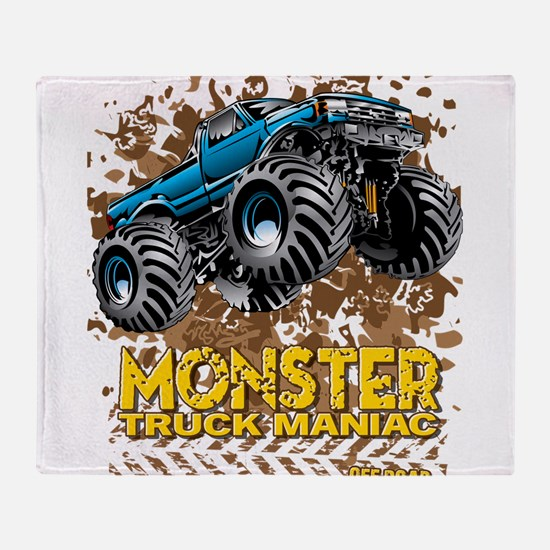 Monster Truck Maniac Throw Blanket