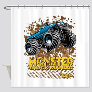 Monster Truck Maniac Shower Curtain