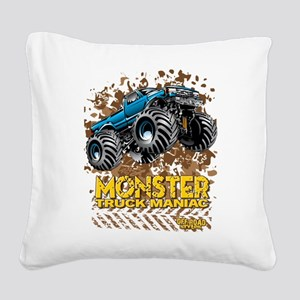 Monster Truck Maniac Square Canvas Pillow