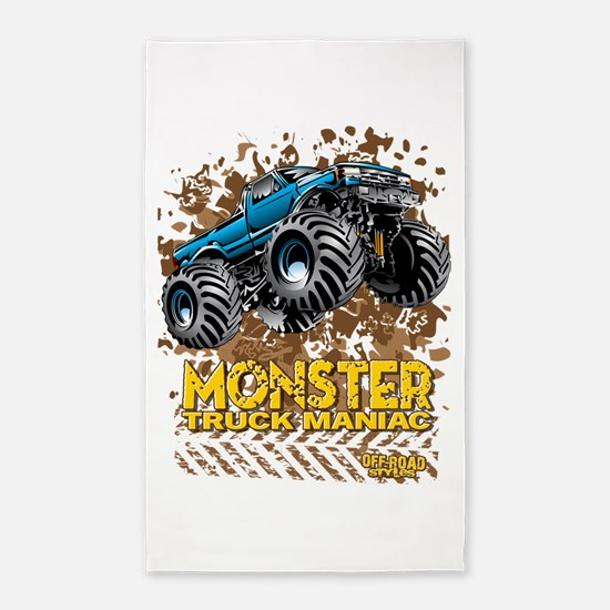 Monster Truck Maniac Area Rug