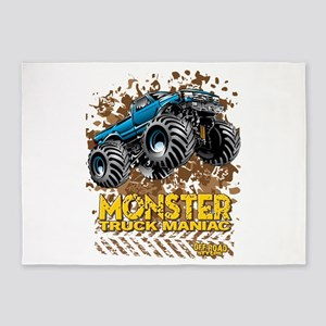 Monster Truck Maniac 5'x7'Area Rug
