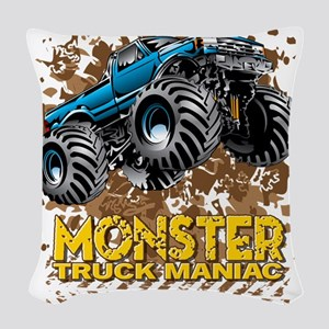 Monster Truck Maniac Woven Throw Pillow