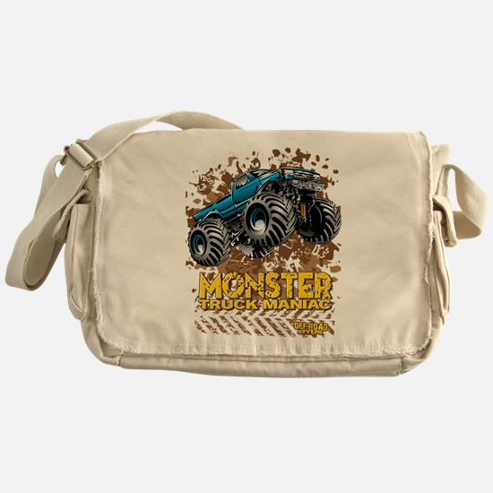 Monster Truck Maniac Messenger Bag
