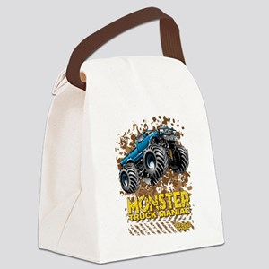 Monster Truck Maniac Canvas Lunch Bag