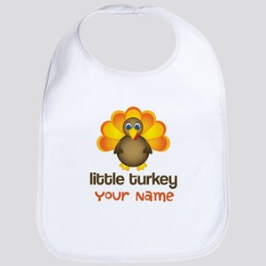 Personalized Thanksgiving Turkey Baby Bib