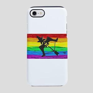 SAGITTARIUS GAY RAINBOW ART iPhone 7 Tough Case