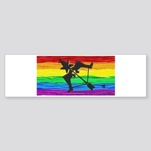 SAGITTARIUS GAY RAINBOW ART Bumper Sticker
