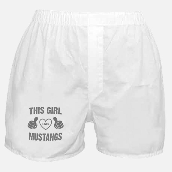 THIS GIRL LOVES MUSTANGS Boxer Shorts