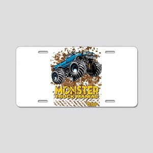 Monster Truck Maniac Aluminum License Plate