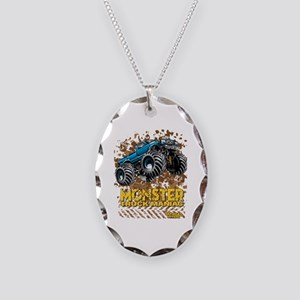 Monster Truck Maniac Necklace Oval Charm