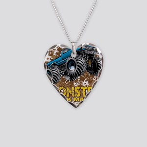 Monster Truck Maniac Necklace Heart Charm