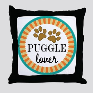 Puggle Dog Lover Throw Pillow