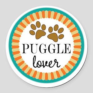 Puggle Dog Lover Round Car Magnet