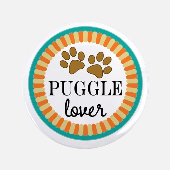 Puggle Dog Lover Button