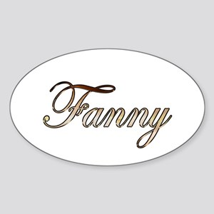 Gold Fanny Sticker