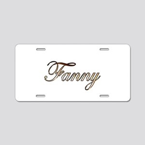 Gold Fanny Aluminum License Plate