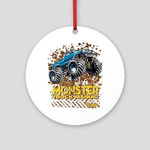Monster Truck Maniac Round Ornament