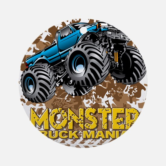 Monster Truck Maniac Round Ornament