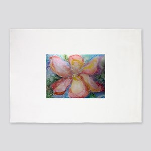 Orchid! Beautiful flower art! 5'x7'Area Rug