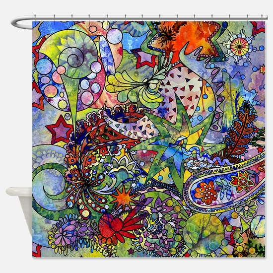Cute Graphic Shower Curtain