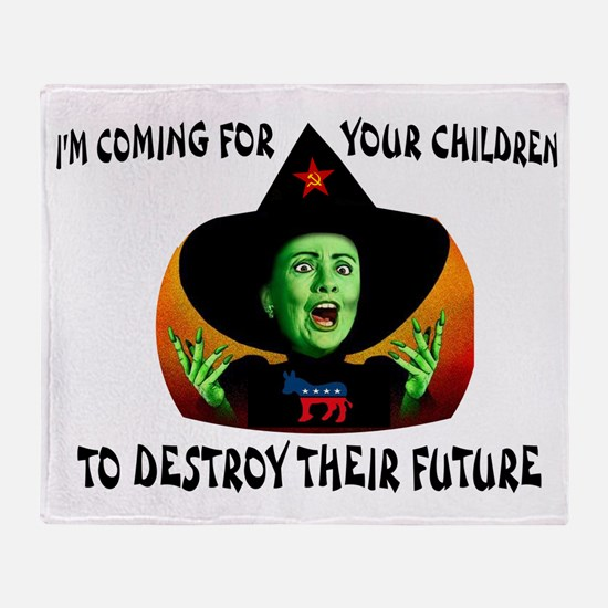 HILLARY'S COMING Throw Blanket