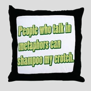 Shampoo My Crotch Throw Pillow