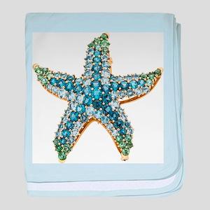 Rhinestone Starfish Costume Jewelry S baby blanket