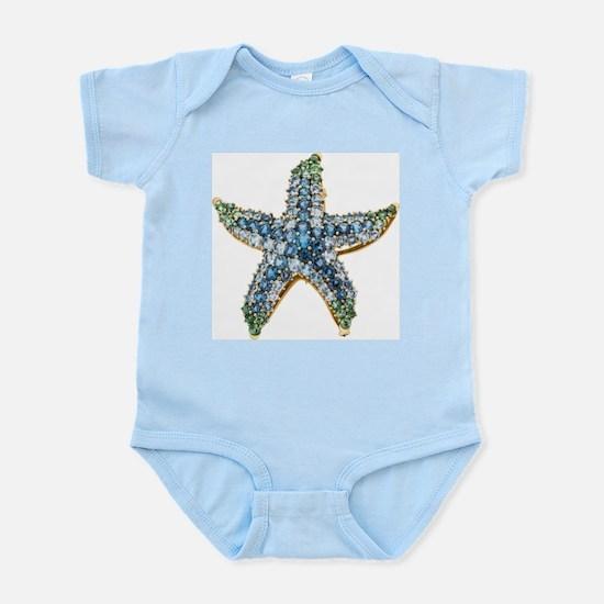 Rhinestone Starfish Costume Jewelry Sapp Body Suit