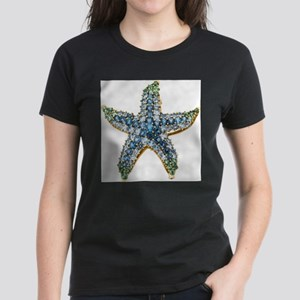 Rhinestone Starfish Costume Jewelry T-Shirt