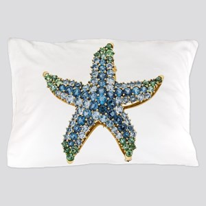 Rhinestone Starfish Costume Jewelry Sa Pillow Case