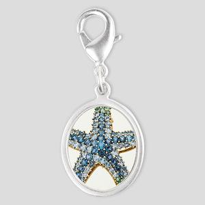 Rhinestone Starfish Costume Jewelry Sapphir Charms