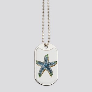 Rhinestone Starfish Costume Jewelry Sapph Dog Tags