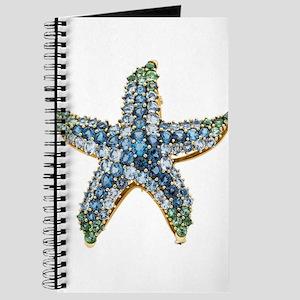 Rhinestone Starfish Costume Jewelry Sapphi Journal