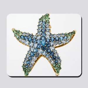 Rhinestone Starfish Costume Jewelry Sapp Mousepad