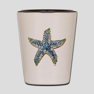 Rhinestone Starfish Costume Jewelry Sap Shot Glass