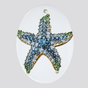 Rhinestone Starfish Costume Jewelr Ornament (Oval)