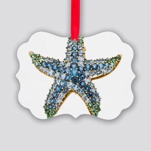 Rhinestone Starfish Costume Jewel Picture Ornament