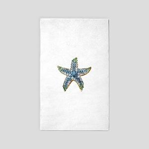 Rhinestone Starfish Costume Jewelry Sapph Area Rug