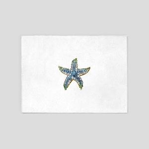 Rhinestone Starfish Costume Jewelry 5'x7'Area Rug