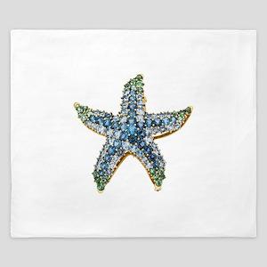 Rhinestone Starfish Costume Jewelry Sap King Duvet