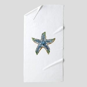 Rhinestone Starfish Costume Jewelry Sa Beach Towel