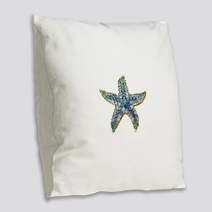 Rhinestone Starfish Costume Je Burlap Throw Pillow