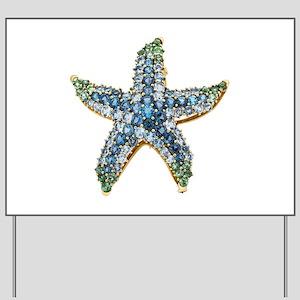 Rhinestone Starfish Costume Jewelry Sapp Yard Sign