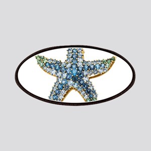 Rhinestone Starfish Costume Jewelry Sapphire Patch